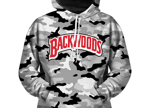Grey camo backwoods hoodie
