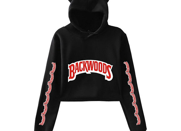 Crop top hoodie backwoods