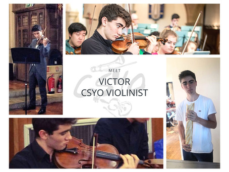 For the first in our new series of 'meet the members', introducing Victor, violinist in CSYO...