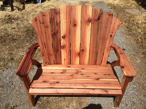 Good California Redwood Adirondack Bench (one Bench)