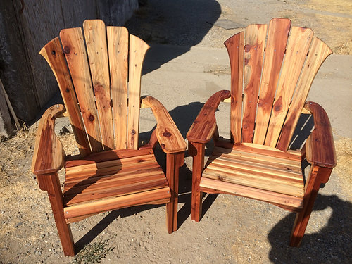 California Redwood Adirondack Chair (one Chair)