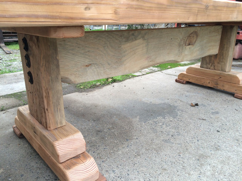 We Custom Build These Tables To Order, Using Reclaimed Doug Fir Lumber And  Timbers That Come From Many Sources, Most Often From Buildings That Are  Being ...