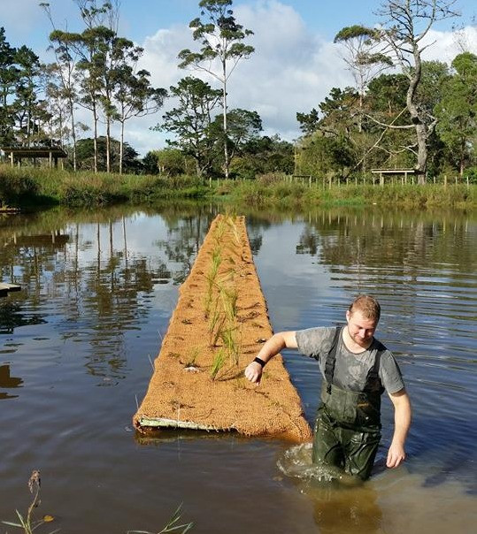 Floating wetland installation