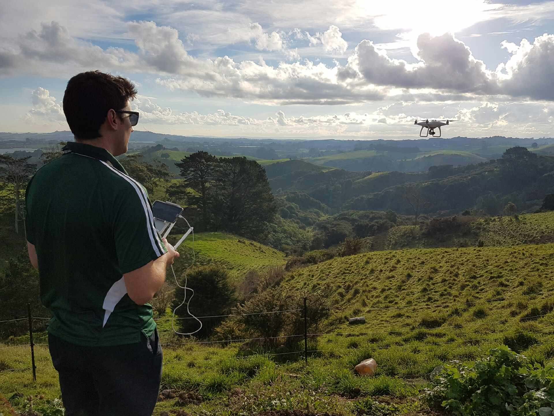 Adam Flying the Drone