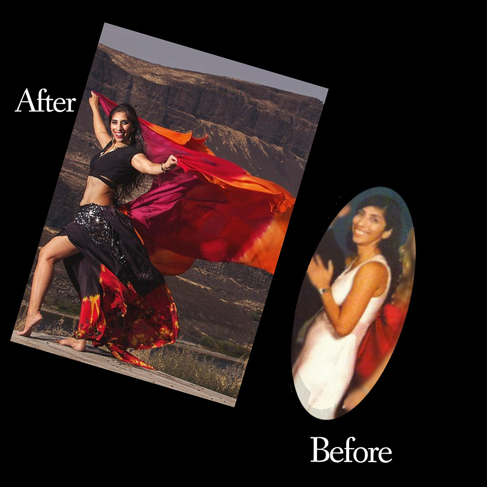 Bellydance before and after