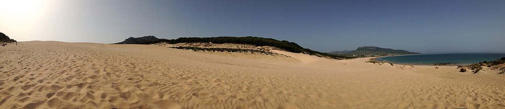 View from top of dunes