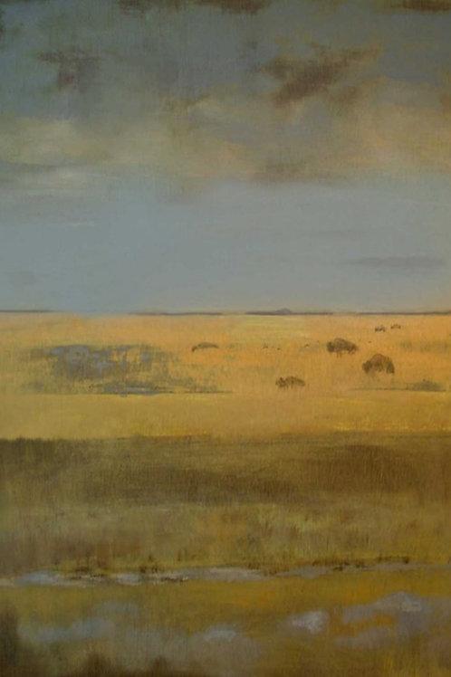 """Prairie Bison 16"""" x 20"""""""