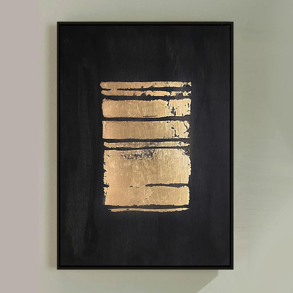 "Gold On Gray II 11"" X 14"""