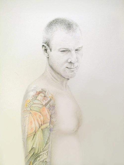 Justin - Graphite & Colored Pencil