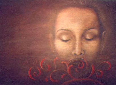 Speaking in Tongues - Pastel on Wood