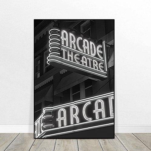 """Arcade Theater 24"""" x 36"""""""