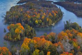 Aerial Voyageur Island