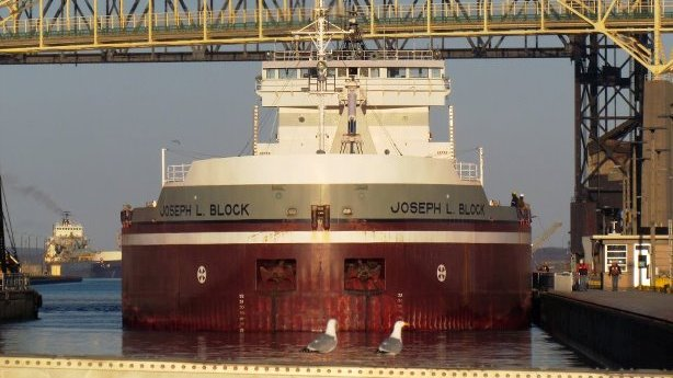 Soo Locks Freighter Joesph Block