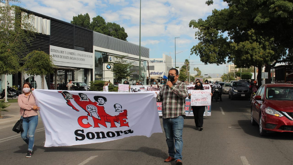 Trabajadores de la educación afiliados a la CNTE exigen su basificación