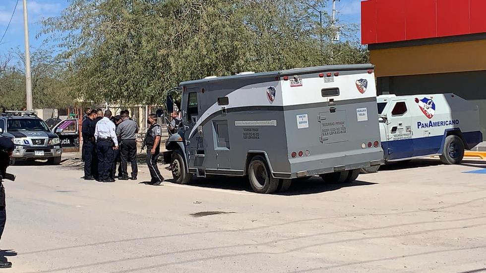 Robo de vehículo de valores en Pueblo Dorado desata operativo de búsqueda