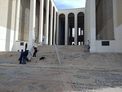 Continúan con arreglos en el edificio del museo-biblioteca de la Unison