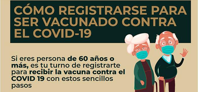 Inicia con saturación el registro de mayores de 60 años para vacunación contra el Covid-19