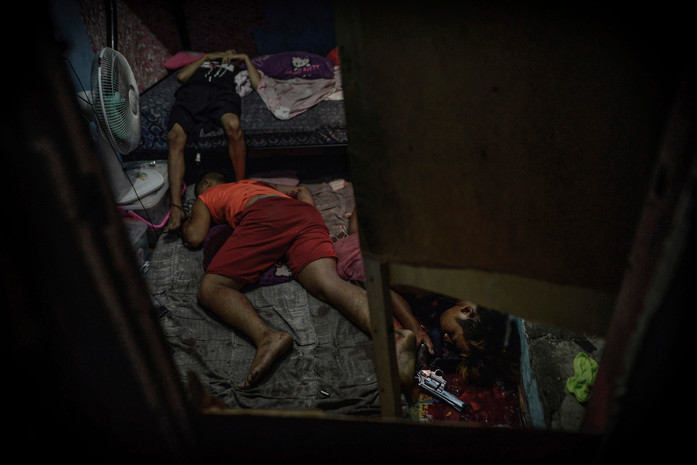 The bodies of Jefferson Bunuan, Mark Anthony Bunuan, and Jomar Manaois lie dead inside a room after they were killed by police following a drug buy-bust operation in Santa Ana, Manila on July 18, 2016. Then-Santa Ana police chief Robert Domingo said that a gunfight ensued after Manaois pulled a gun on undercover policemen, but Bunuan's sister claims that Jefferson and Mark Anthony were defenseless—they were sleeping when the shooting took place. Jefferson's family says he wouldn't have gotten involved in drugs. He was a scholar, and was very diligent in pursuing his studies to become a policeman. He had wanted to give justice to his father who was killed when he was young.