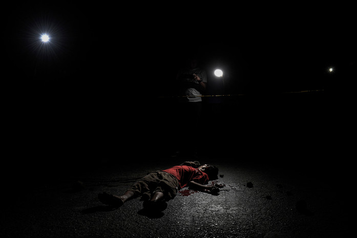 he body of Angelito Guidotte, who worked as a scanvenger and was also a drug pusher according to his brother, lies dead along Payatas road after being killed by unknown assailants in Quezon city, Metro Manila, Philippines, February 9, 2017.