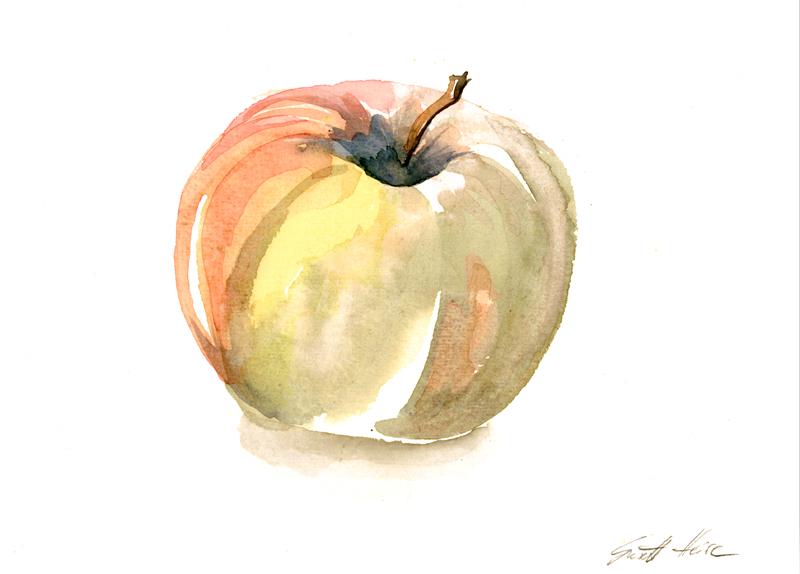 Apfel (Aquarell)