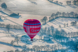 Luchtballon winter