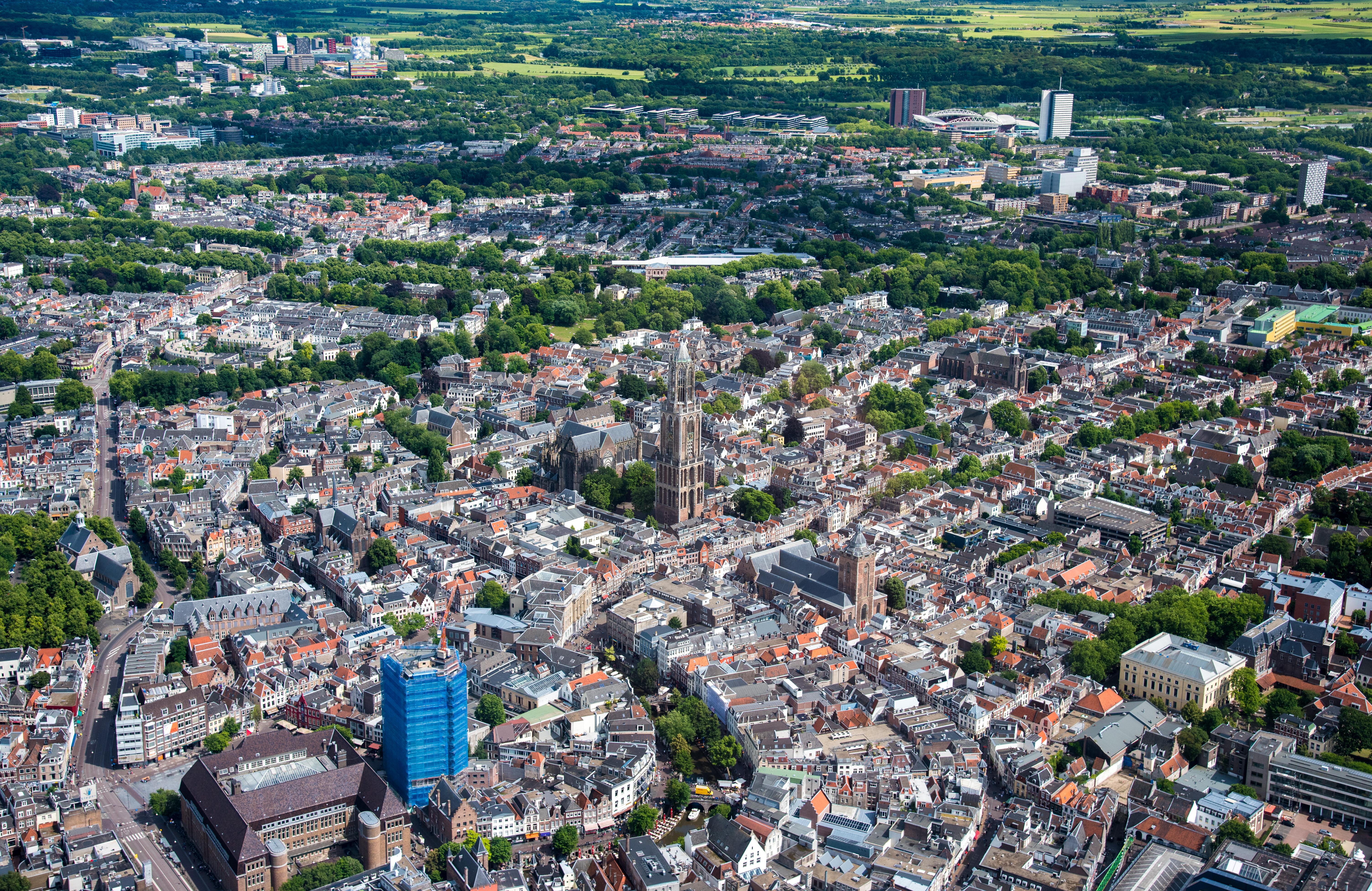 Luchtfoto van Utrecht