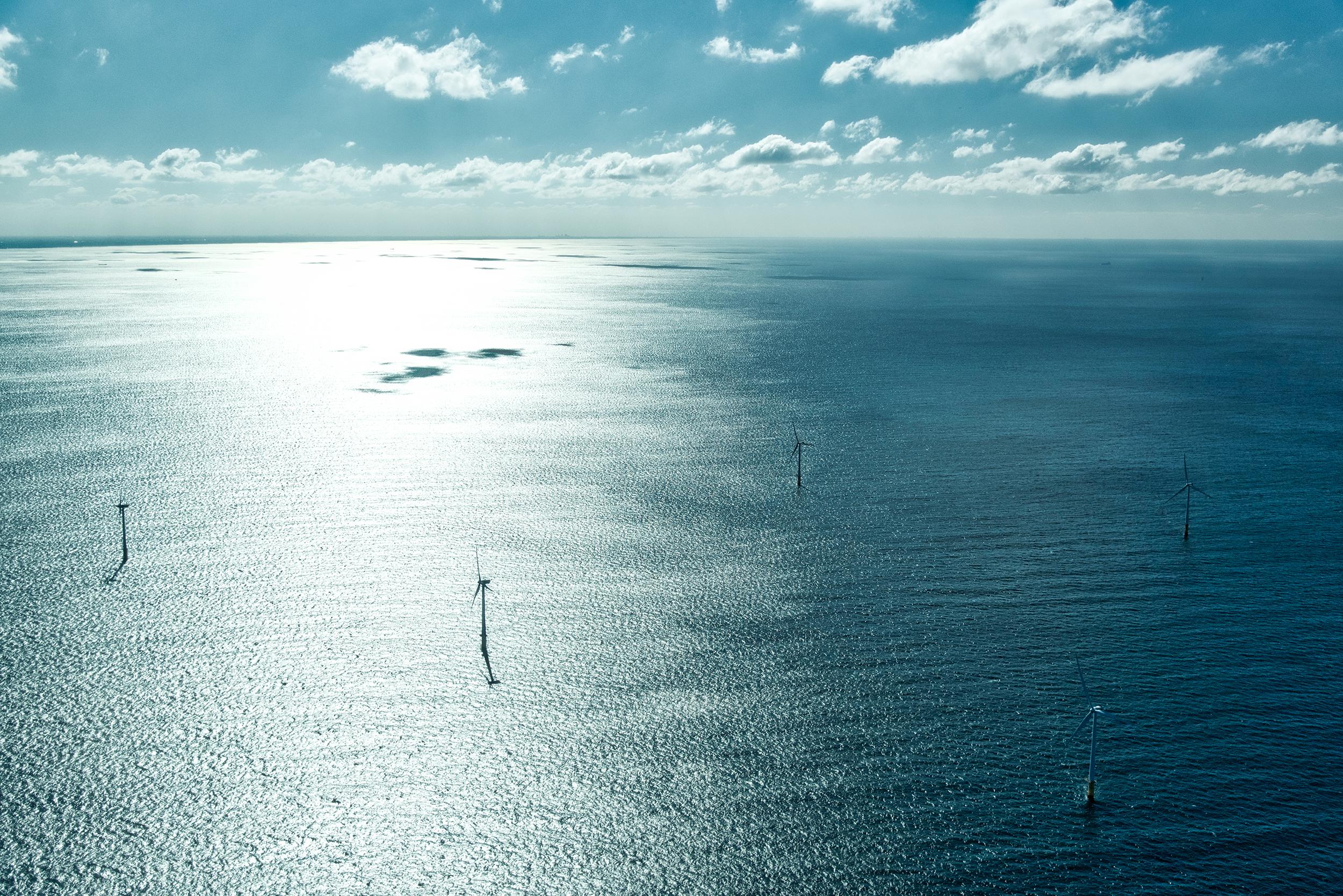 Windmolens Noordzee