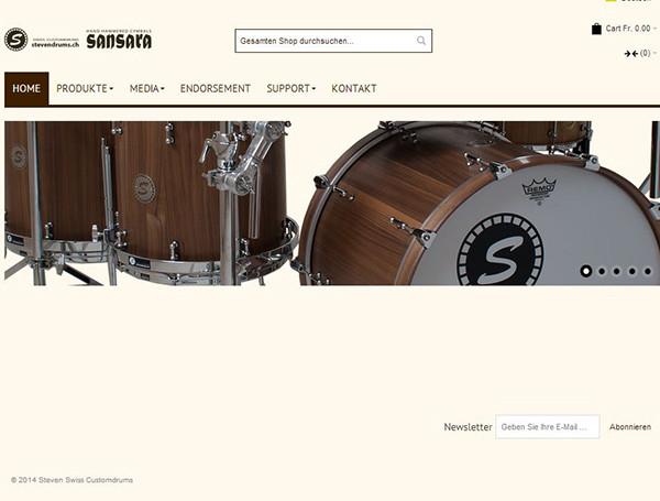 Die neue Website www.stevendrums.ch ist online.