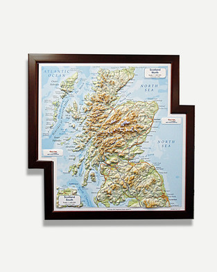 Scotland Map - Framed Map