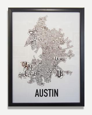 Austin Map - Framed Art