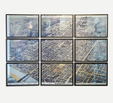 Austin City Map - Framed Map