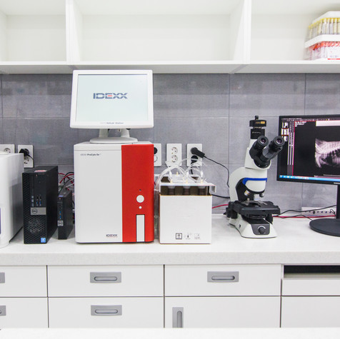 Blood Analysis And Microscope Station.jp