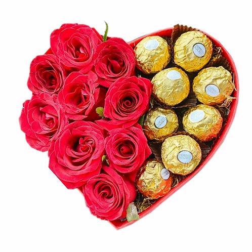 BOX LOVE - COM ROSAS E FERRERO
