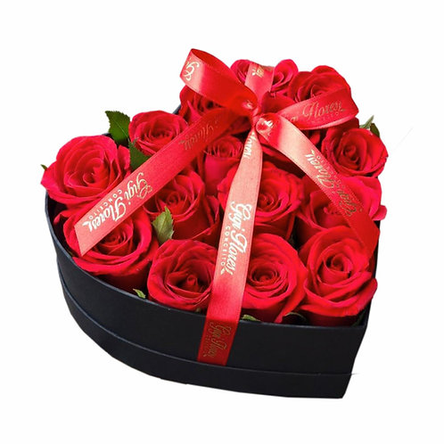 BOX LOVE - COM 15 ROSAS