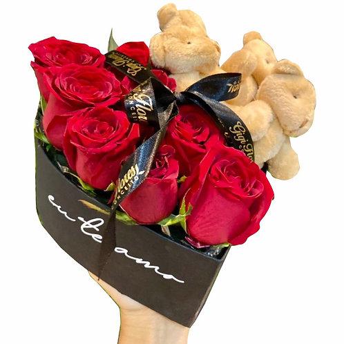 Box com Ursinhos - Eu te Amo