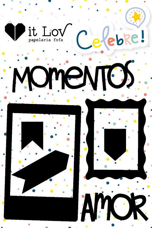 "Cartela Chipboard ""Momentos"""