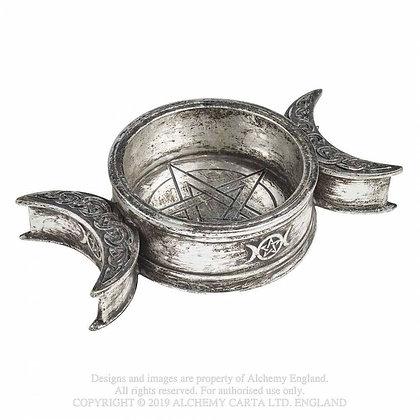 Triple Moon Trinket Dish / Candle Holder (Alchemy Gothic)