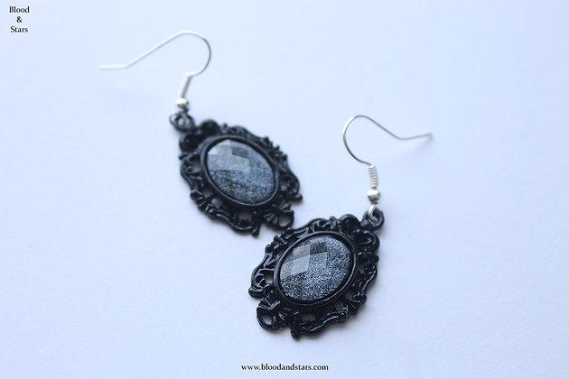 Black Cameo Earrings
