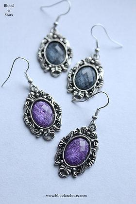 Silver Cameo Earrings