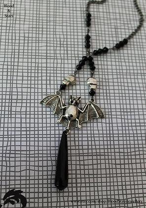 Bat Crystal Pendant Necklace