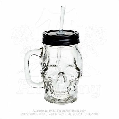 Glass Skull Drinking Jar (Alchemy Gothic)