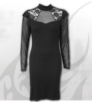 Lace Shoulder Corset Dress (Spiral)