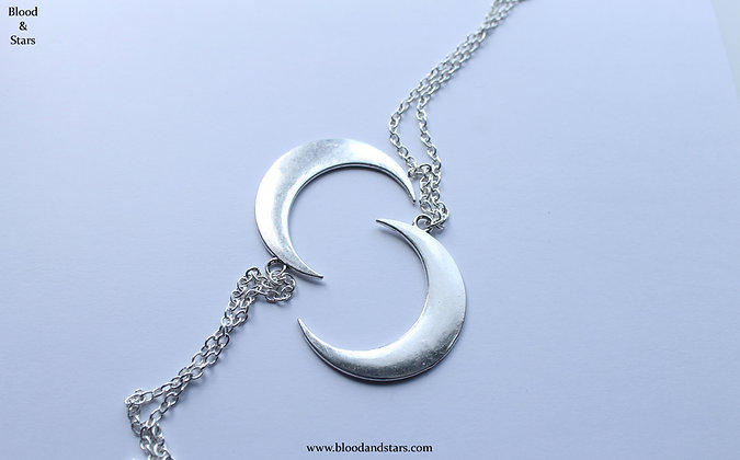 Large Moon Pendant Necklace