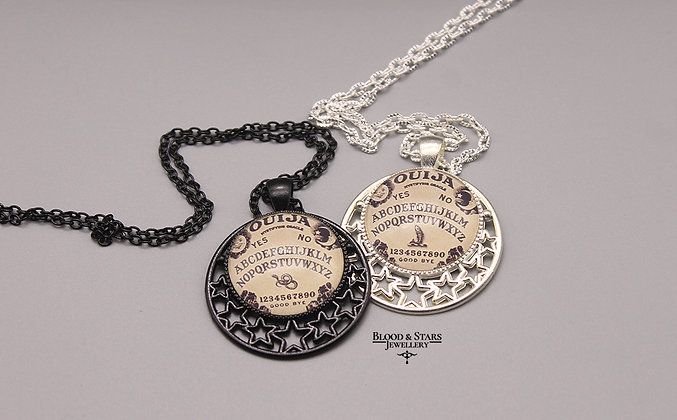 Gothic Ouija Star Frame Cameo Necklace