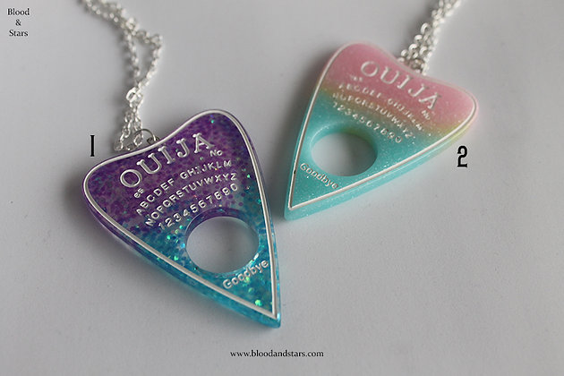 Ouija Rainbow Planchette Necklace