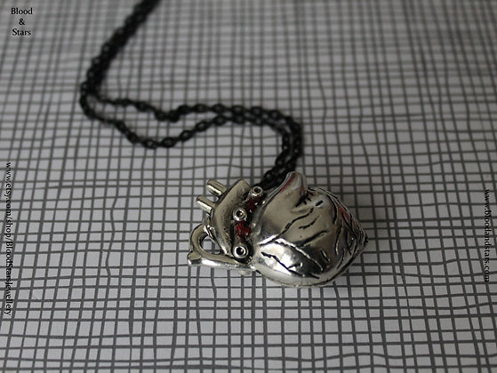 Large Anatomical Heart Necklace