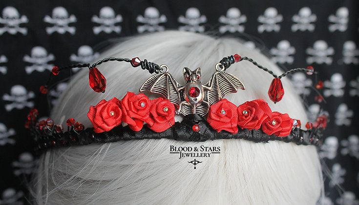 Vampire Rose Bat Tiara