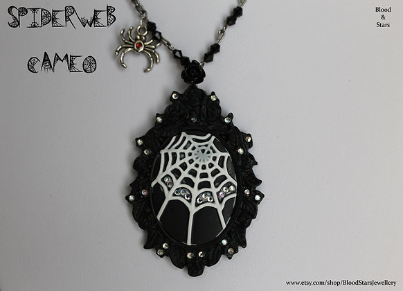 Spiderweb Cameo Necklace (old version)