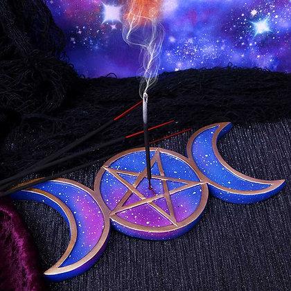 Triple Moon Incense Burner