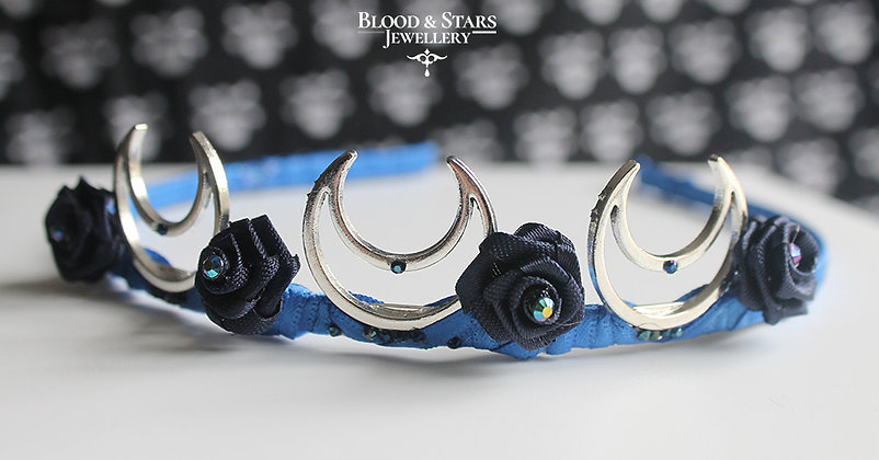 Triple Moon Rose Tiara